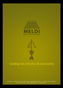 Catálogo de artículos de decoración