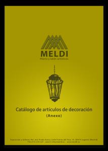 Anexo al catálogo de artículos de decoración